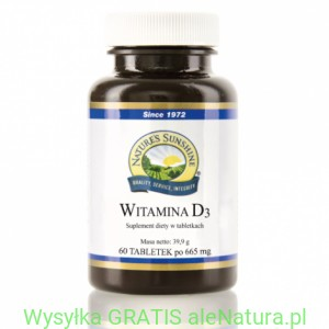 NSP  Witamina D3 - Nature's Sunshine 60 tabletek