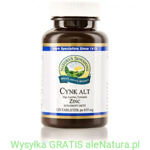 NSP Cynk ALT - Nature's Sunshine 120 tabletek